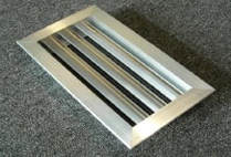 louvers for backflow enclosure